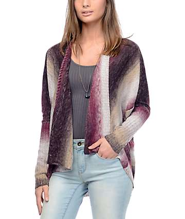 Eyeshadow Callie Ombre Burgundy Stripe Sweater