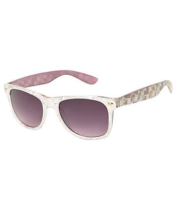 Eyesquared Classic Silver Sparkle Sunglasses
