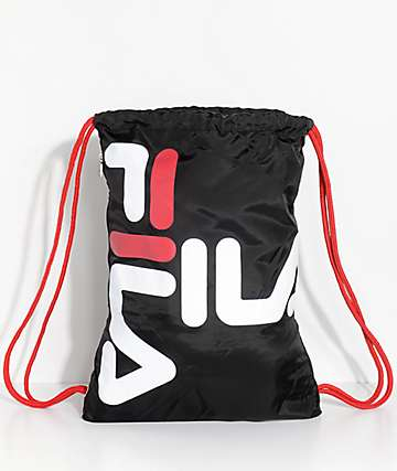 FILA Black Cinch Sack