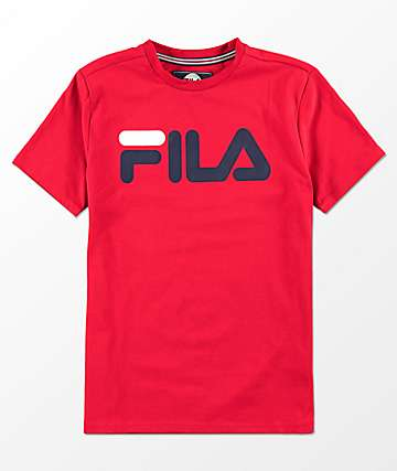 FILA Boys Classic Logo Red T-Shirt