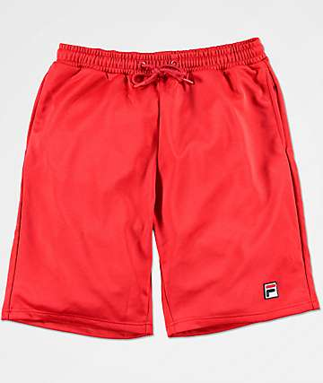 FILA Dominco Red Athletic Shorts