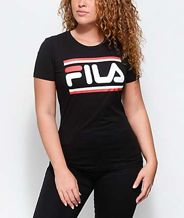 FILA Double Stripe Black T-Shirt