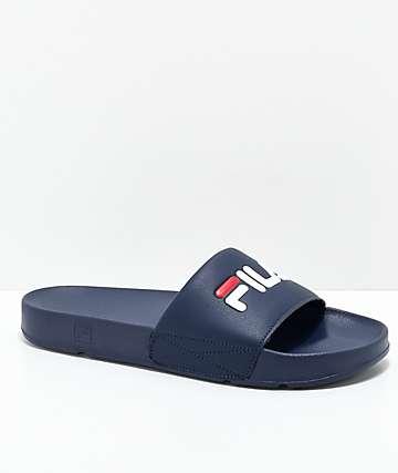 FILA Drifter Navy, Red & White Slide Sandals