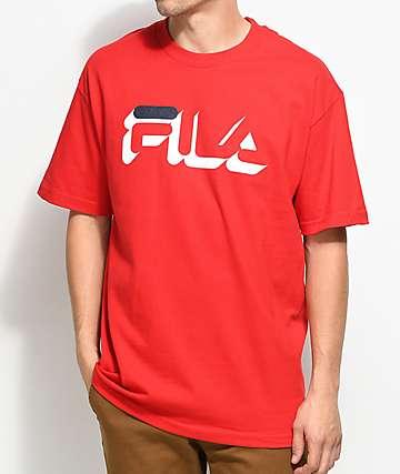 FILA Dropshadow camiseta roja
