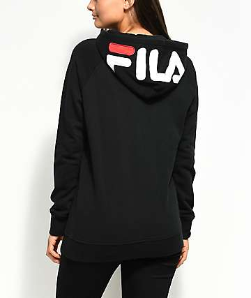 FILA Embroidered Logo Black Hoodie