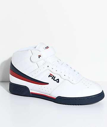 FILA F-13 zapatos en blanco, azul y rojo