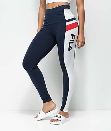 FILA Greta Navy & White Leggings