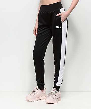 FILA Kimbo Black & White Jogger Track Pants