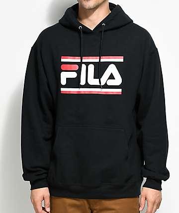 FILA Logo Black Hoodie