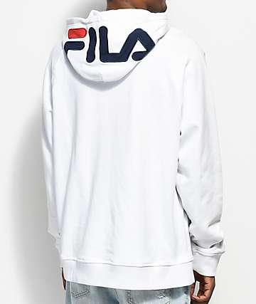 FILA Logo White Hoodie