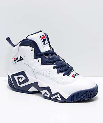 FILA MB White, Navy & Red Shoes