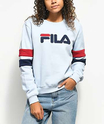 FILA Newton Light Blue Crew Neck Sweatshirt