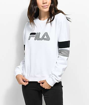FILA Newton White Crew Neck Sweatshirt