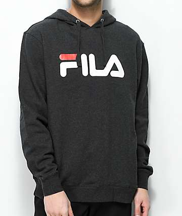 FILA Queens Black, White & Red Hoodie