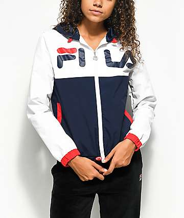 FILA Selma Red, White & Blue Windbreaker Jacket