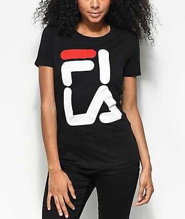 FILA Square Logo camiseta negra