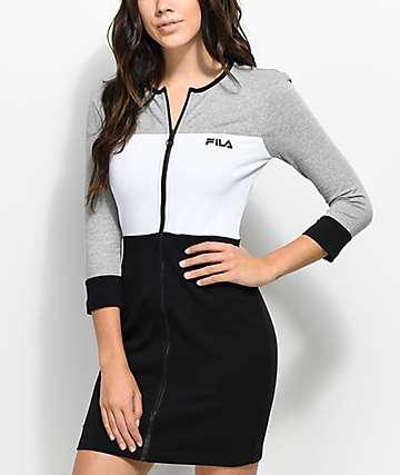 FILA Vienna Black, White & Grey Bodycon Dress