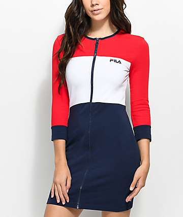 FILA Vienna Red, White & Blue Bodycon Dress