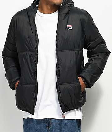 FILA Vincenzi Black Quilted Jacket