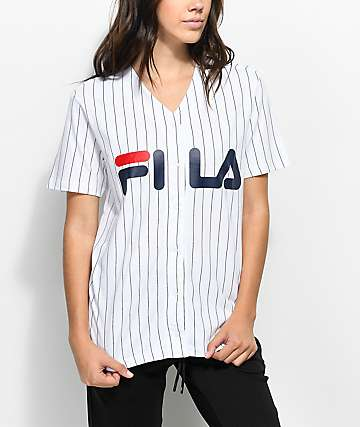 FILA White & Black Baseball Jersey