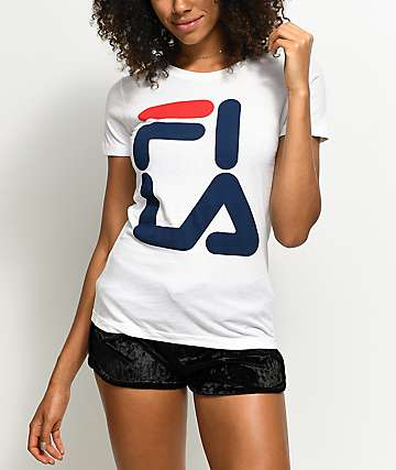 FILA White Square Logo T-Shirt