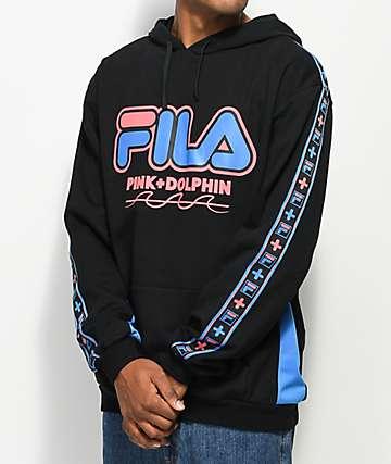 FILA x Pink Dolphin Heritage Black Hoodie