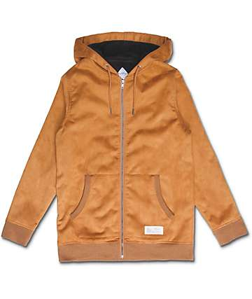 FairPlay Bosh sudadera con cremallera en color camel