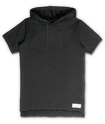 FairPlay Devieo Black Knit Hooded Shirt