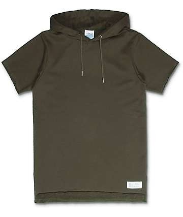 FairPlay Devieo Olive Knit Hooded Shirt