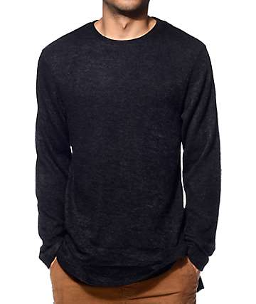 Fairplay Bates Black Crew Neck Sweater