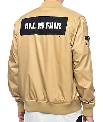 Fairplay Braeden Tan Bomber Jacket