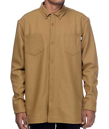 Fairplay Colt Tan Woven Long Sleeve Shirt