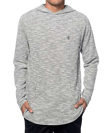 Fairplay Devin Black Knit Long Sleeve Hooded Shirt