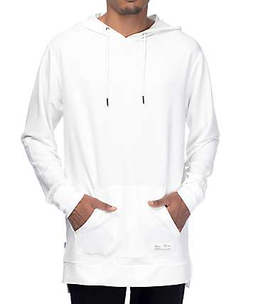 Fairplay Donnelly White Hooded Long Sleeve T-Shirt
