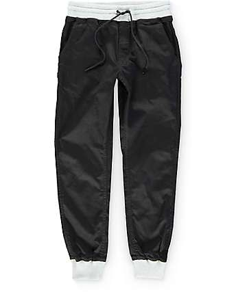 Fairplay Karson Knit Cuff Black Jogger Pants