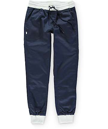 Fairplay Karson Knit Cuff Navy Jogger Pants