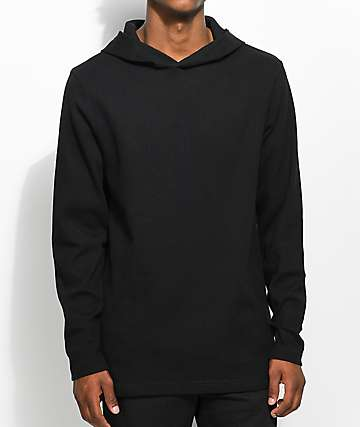 Fairplay Lawnson Thermal Black Hoodie