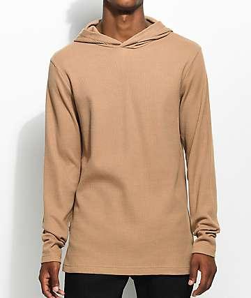 Fairplay Lawnson sudadera térmica con capucha en color bronceado