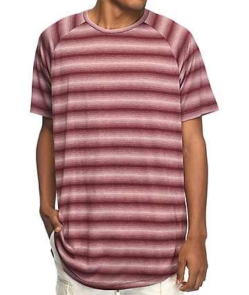 Fairplay Packer camiseta a rayas en color vino
