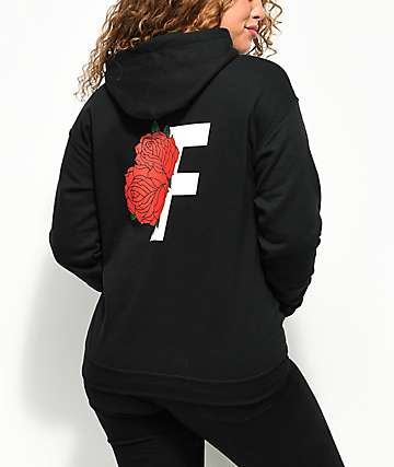 Fairplay Roses Black Hoodie