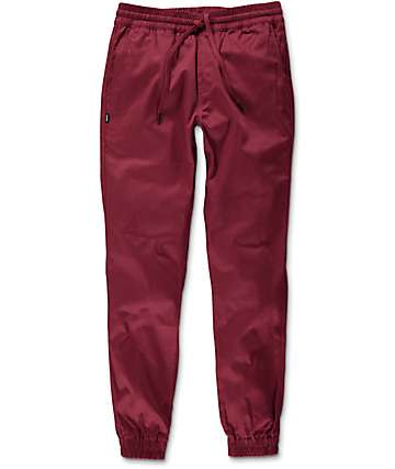 Fairplay Runner Burgundy Jogger Pants
