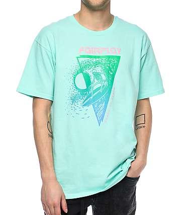 Fairplay Skully camiseta en color menta