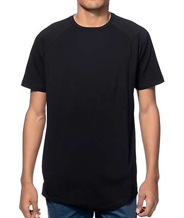 Fairplay Venice Black Raglan Elongated Long T-Shirt