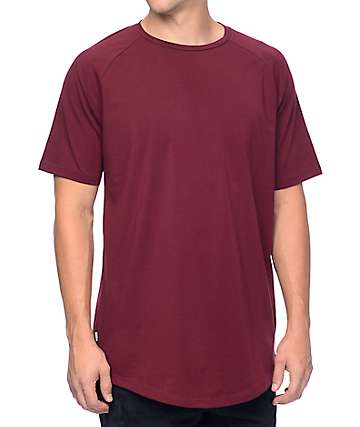 Fairplay Venice Burgundy Raglan Tall T-Shirt