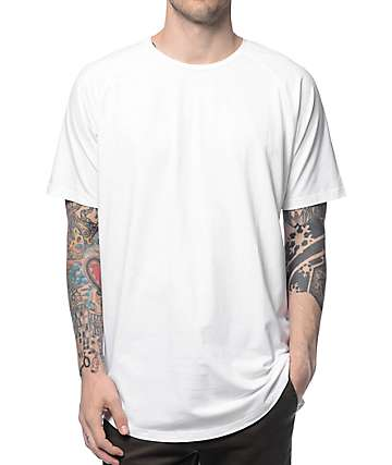 Fairplay Venice Elongated White Raglan Tall T-Shirt