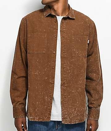 Fairplay Woodson Rust Boxy Button Up Shirt