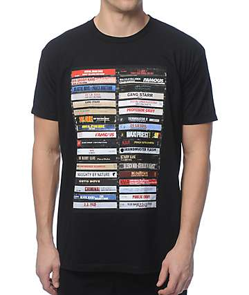 Famous Stars & Straps Hip Hop Tapes Black T-Shirt
