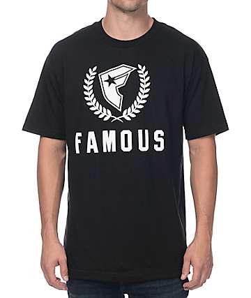 Famous Stars & Straps Steel F MSS Black T-Shirt