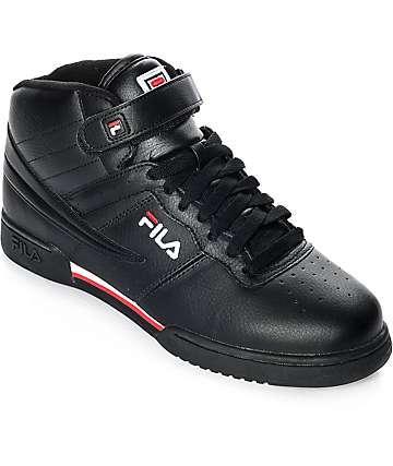 Fila F-13 Mid zapatos en negro, rojo y blanco