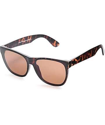 Flat Lens Brown Tortoise Wayfarer Sunglasses